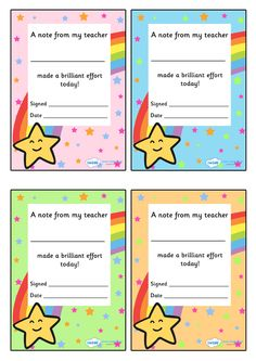 Twinkl Resources >> Note From Teacher Brilliant Effort >> Thousands of printable primary teaching resources for EYFS, KS1, KS2 and beyond! teacher note, star, teacher, editable, printable