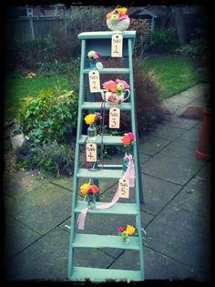 Vintage ladder tableplan