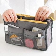 Handbag Purse organizer liner Makeup Cosmetic Bag