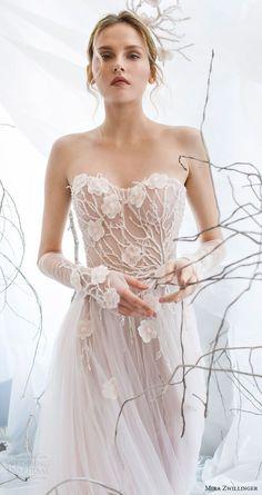 mira zwillinger bridal 2017 strapless sweetheart aline wedding dress (flora) zv