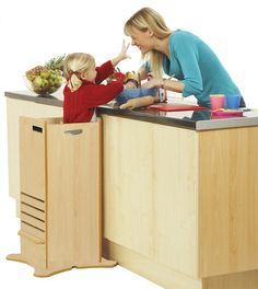 The FunPod from @lucaandcompany is such a great way to get your toddler or child involved in the kitchen!  Love.