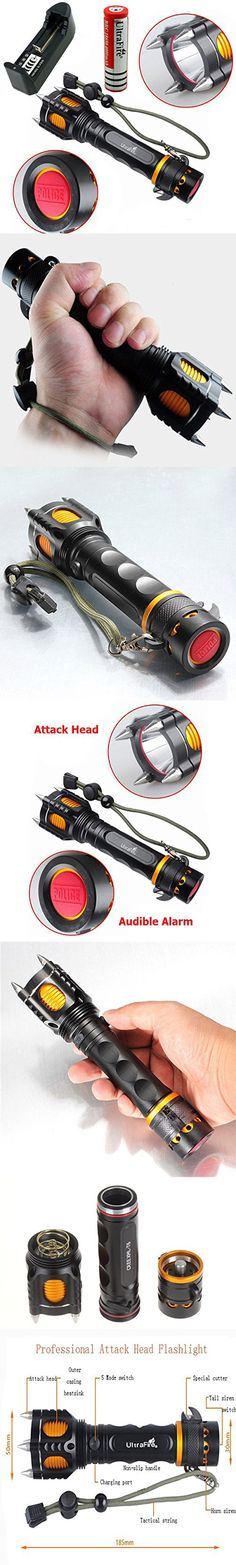 Tactical Self Defense Flashlight::  I've never been afraid of a flashlight before… Seriously, this would give anybody a confidence boost when walking alone late at night. Easily the meanest looking torch I've ever seen. www.gonnawannagetit.com