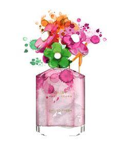 marc jacobs perfume bottle illustration
