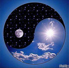 17 best images about yin yang on wolves Arte Yin Yang, Ying Y Yang, Yin Yang Art, Yin Yang Tattoos, Tatuajes Yin Yang, Feng Shui, Yen Yang, Sun In Libra, Venus And Mars