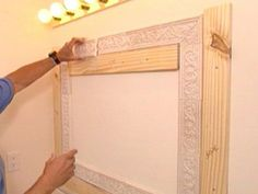 bathroom mirror tile frame | Step 3: Cut the Tiles and Set the Adhesive