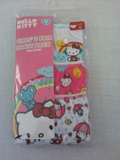 NEW Hello Kitty Girls' 3 Pair Panty Pack Size 6 FREE SHIPPING $7.99