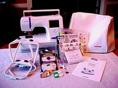 Janome 300E Computerized Embroidery Machine with Lots of EXTRAS | eBay