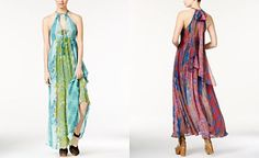 Free People Unattainable Open-Front Halter Maxi Dress