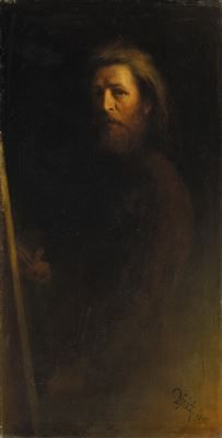 Karl Wilhelm Diefenbach ~ Symbolist and Art Nouveau painter Beard Art, Bald With Beard, Digital Museum, Pre Raphaelite, Old Master, Master Art, Mirror Image, Art Auction, Oil On Canvas