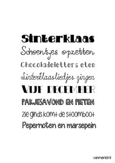 Sinterklaas Word Art - Buy it at www. Project Life 6x8, Dutch Words, Lines Quotes, New Year Wishes, Marianne Design, Happy Moments, New Years Eve Party, Quote Posters, Christmas And New Year