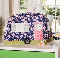 Rainbow Hare Vintage Caravan Sewing Machine Cover