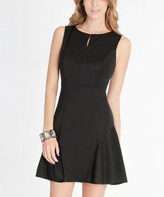 Look what I found on #zulily! Black Keyhole Sleeveless Dress by NIKIBIKI #zulilyfinds