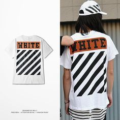 Off White Justin Bieber Cotton T Shirts Striped Unisex Cool Rappers Top Tees Hip Hop Harajuku Summer Masculinas Camisetas Hombre