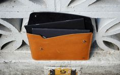31trum leather document wallet with A5 books 2
