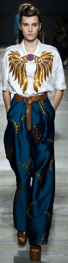 """Dries Van Noten Spring 2016 RTW """"And the LORD said to Moses, """"Go to the people and consecrate them today and tomorrow. Have them wash their clothes."""" Exodus 19:10"""