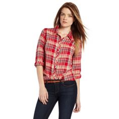 A closet staple, your boy-girl will love this easy, everyday classic. Bring out her feminine side with log-cabin plaid! Gifts for Girlfriends! Spotted for $33