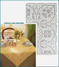 PORTAL DOS CROCHÊS: Março 2015 Crochet Edging Patterns, Crochet Borders, Filet Crochet, Crochet Lace, Crochet Stitches, Crochet Clutch, Crochet Tablecloth, Doilies, Needlework