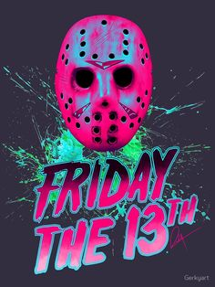 Jason, Friday The Friday The 13th Poster, Friday The 13th Funny, Friday The 13th Tattoo, Horror Posters, Horror Icons, Scary Movies, Horror Movies, Jason Friday, Horror Artwork