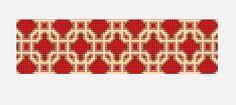 Basket Link Bead Loom Cuff Pattern