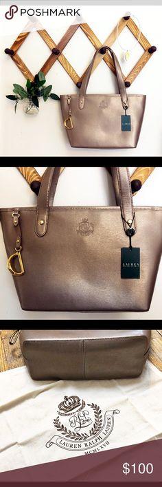48c137ca38 Ralph Lauren Newbury Shopper Tote Bag Patina •Ralph Lauren Newbury Shopper  Tote •Color—