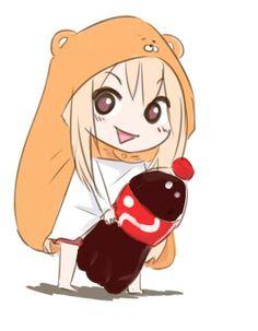 Umaru-chan (Doma Umaru) kawaii anime girl Himouto Chibi Indoor