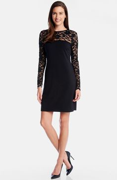 Karen Kane 'Blake' Lace Yoke Sheath Dress available at #Nordstrom