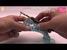 How to Make Crochet Cables