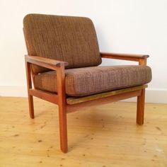 wood teak easy chair denmark Illum Wikkelsø Producer: N. Swan Chair, Leather Lounge, Swivel Chair, Scandinavian Design, Vintage Designs, Teak, 1950s, Accent Chairs, Illustration Sketches