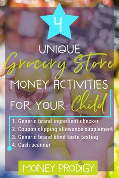 4 Grocery Store Games for kids that don't involve weighing vegetables. Trust me, you'll WANT your child to learn these money life skills using these ideas! |  http://www.moneyprodigy.com/4-unique-grocery-store-games-kids/