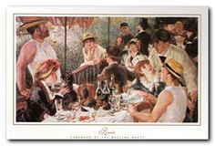 Liven up your home a stylish touch with this beautiful Renoir luncheon on the boat party impressionist wall decor .This poster is a wonderful selection for every party lover. The frame is made from solid wood with a smooth gesso finish. It would be a perfect addition for any teen age boy bedroom. It would surely enhance the visual appeal of your place.