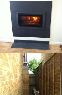CP Wood Burning Stoves, Stovax Cassette with external recess and flue Install