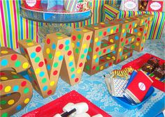 Sweets at a Circus Party #circus #partysweets