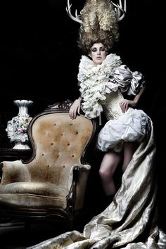 You look divine Rococo style love it on you look s more authentic