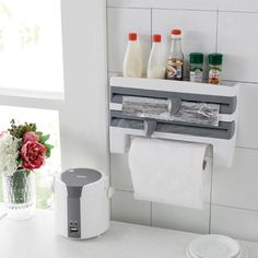 4-IN-1 Kitchen Roll Holder Dispenser