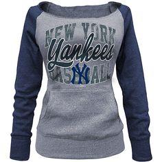 New York Yankees Women's Tri-blend Fleece Raglan Sweatshirt by 5th & Ocean - MLB.com Shop