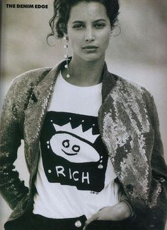 'Free Spirit Summer Style' from………………..Vogue April 1988 feat Christy Turlington