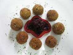 meatballs, but could be prepared in the oven Healthy Cooking, Ale, Vegan, Ethnic Recipes, Food, Eten, Ales, Meals, Vegans