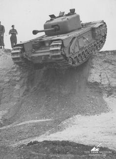 At Bovington in July a Churchill Mark IV is just seconds from going down a 15 foot vertical drop. Ww2 Pictures, Ww2 History, Armored Fighting Vehicle, World Of Tanks, Ww2 Tanks, Military Photos, Armored Vehicles, British Army, Churchill