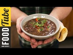 Kick-start a healthy new year with Jamie's spicy and colourful Black Bean Soup recipe inspired by his recent travels to Costa Rica. Black beans have the high...