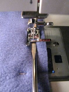 flat-head screwdriver to help with sewing