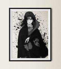 Naruto Shippuuden Uchiha Itachi Watercolor Print 8x10 by ColorInk, $20.00