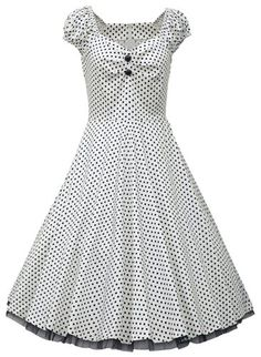 Vintage Sweetheart Neck Cap Sleeve Ruched Polka Dot Dress For Women