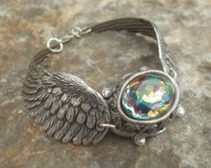 Oxidized Silver Watermelon Wings Bracelet by LGJewellery on Etsy, £26.00