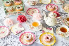 How to Throw a Tea Party – Donuts, Decorations, Tableware and More!