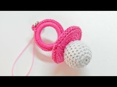 How To Make A Cute Crocheted Charm Babys Dummy - DIY Crafts Tutorial - Guidecentral. Guidecentral is a fun and visual way to discover DIY ideas learn new skills, meet amazing people who share your passions and even upload your own DIY guides. We provide a Diy And Crafts Sewing, Crafts To Sell, Handmade Crafts, Diy Crafts, Crochet For Dummies, Crochet Videos, Knitting For Dummies, Pram Charms, Knitting Patterns