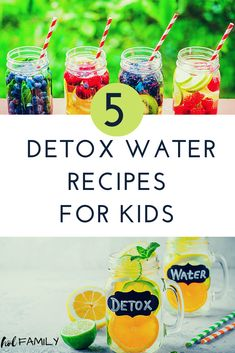 Many kid-friendly foods and drinks are full of harmful chemicals, sugar and other ingredients that can impact children's health. Drinking water with fruits and vegetables can help to gently remove toxins from the body and increase hydration naturally. Detox is especially helpful for reducing symptoms and improving behavior in children with Autism and ADHD. Click through to learn about the benefits of detox for kids and to find 5 kid-friendly detox water recipes. #detox #detoxwater…