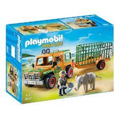 PLAYMOBIL Wildlife ranger terreinwagen met olifant 6937