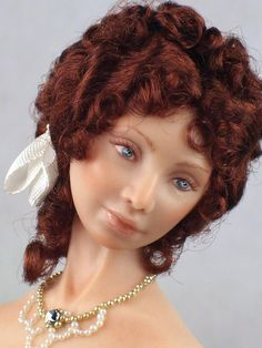 DOLLHOUSE BEAUTIFUL DOLL * Josette *  BY TERRI DAVIS 1:12 SCALE