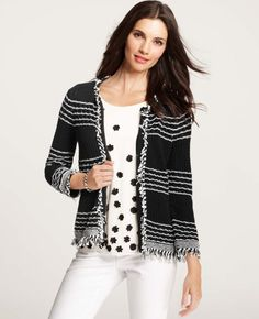 Annabel Textured Cotton Cardigan