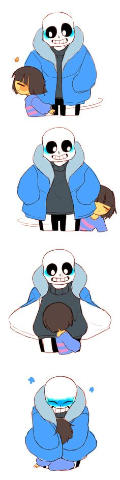 Sans and Frisk - http://knocker12.tumblr.com/post/133546095202